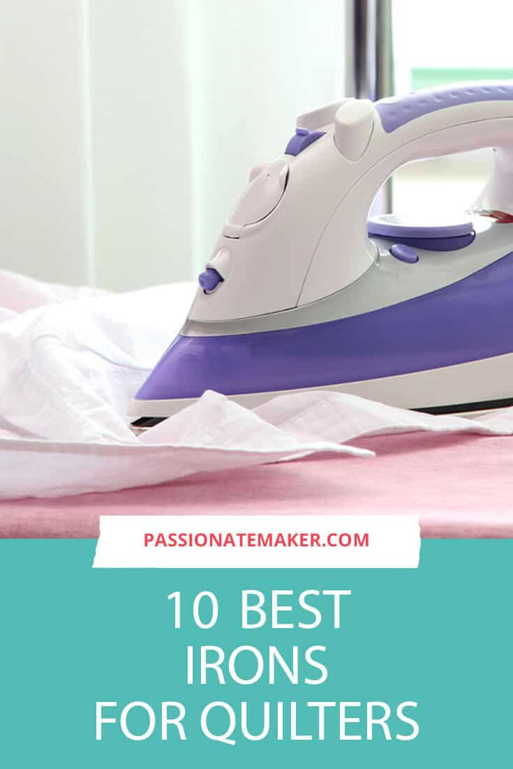 The best quilting iron you can find is a great addition to your quilting and sewing toolbox. Pressing is so important to a quality project that finding the right iron is super important.